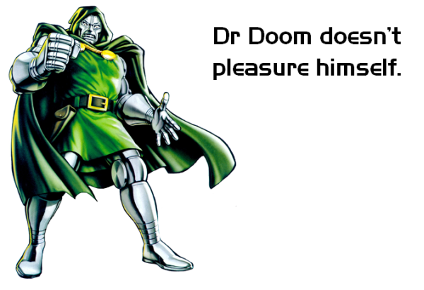 Dr Doom - Marvel Comics. Satirical alteration - Healthy Geek.